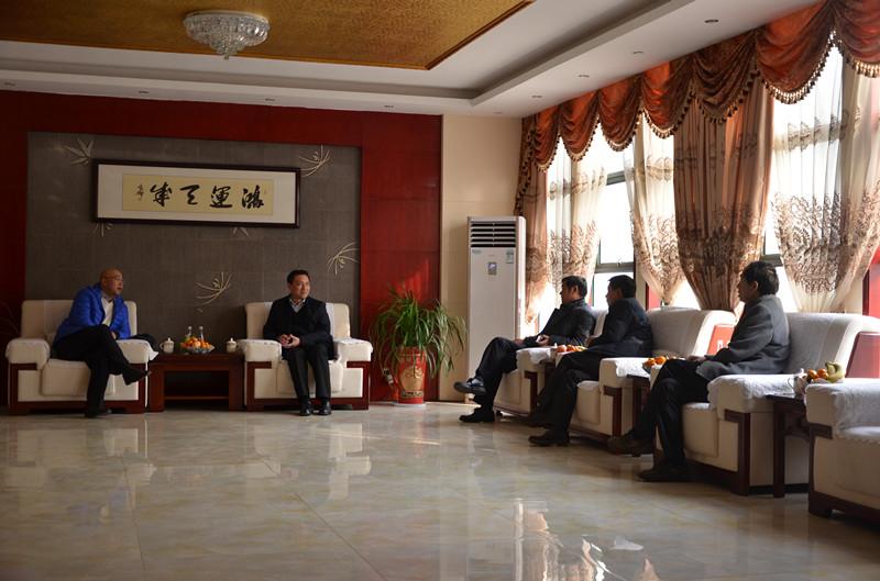 和商丘市梁书记、柘城县刘局长、安信证券领导一起洽谈